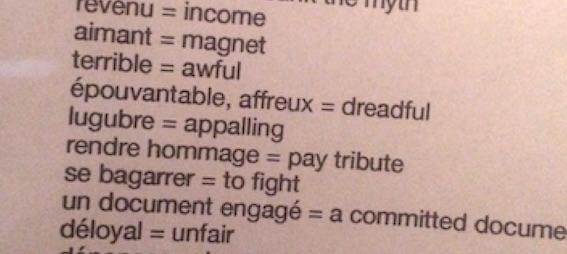 Liste de vocabulaire anglais
